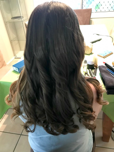 loose curls special occasion styling curls brisbane mobile hairdressing